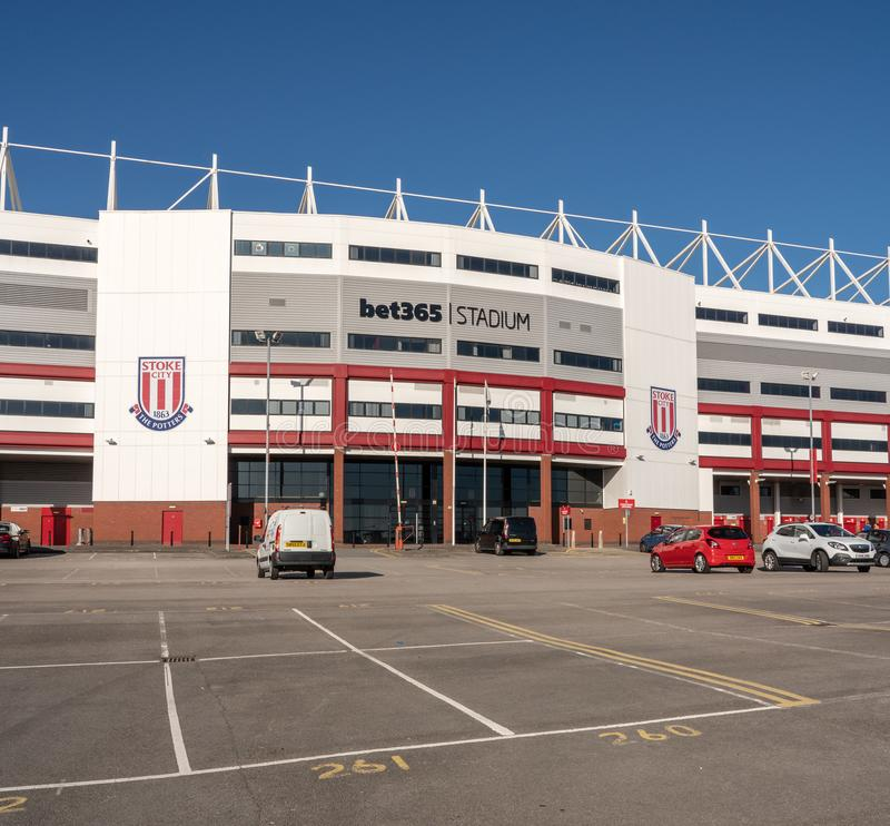 Вход к футбольному стадиону Stoke City стоковые изображения rf