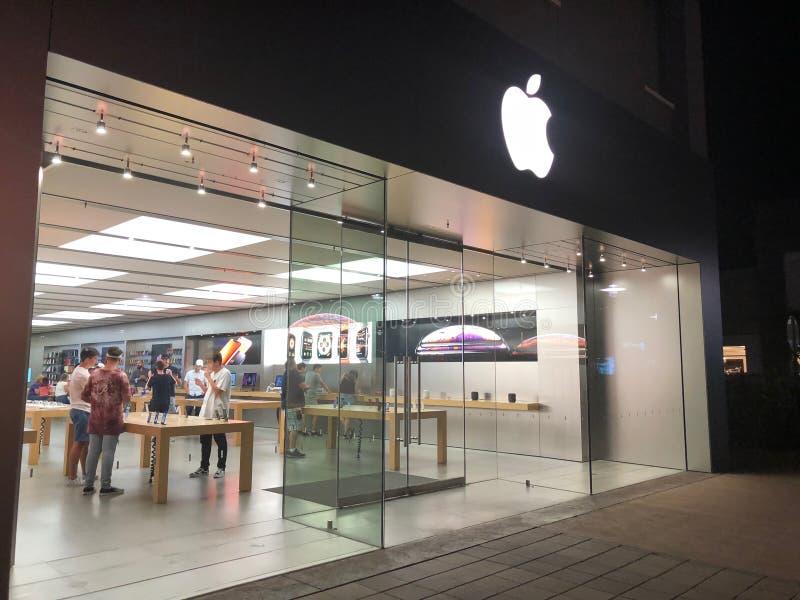 Вход магазина Яблока стоковые фото