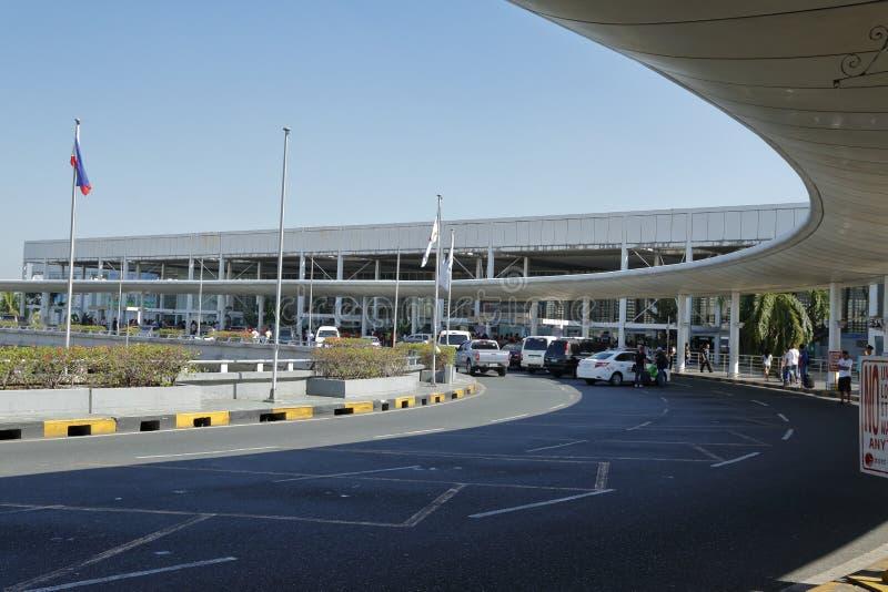 Вход международного аэропорта Ninoy Aquino терминальный, Манил-Филиппины стоковое фото rf
