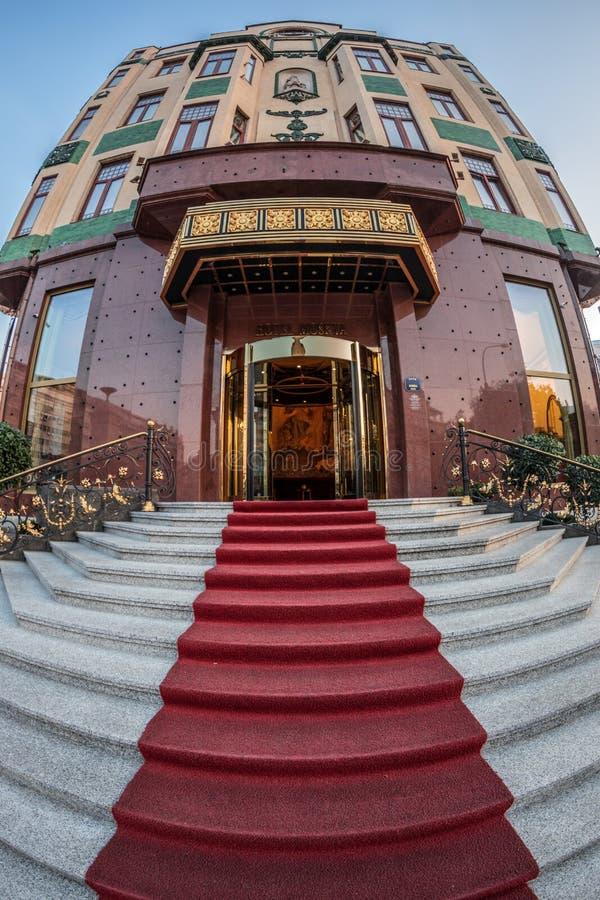 Вход на гостиницу Москву в Белграде, Сербии стоковое изображение rf