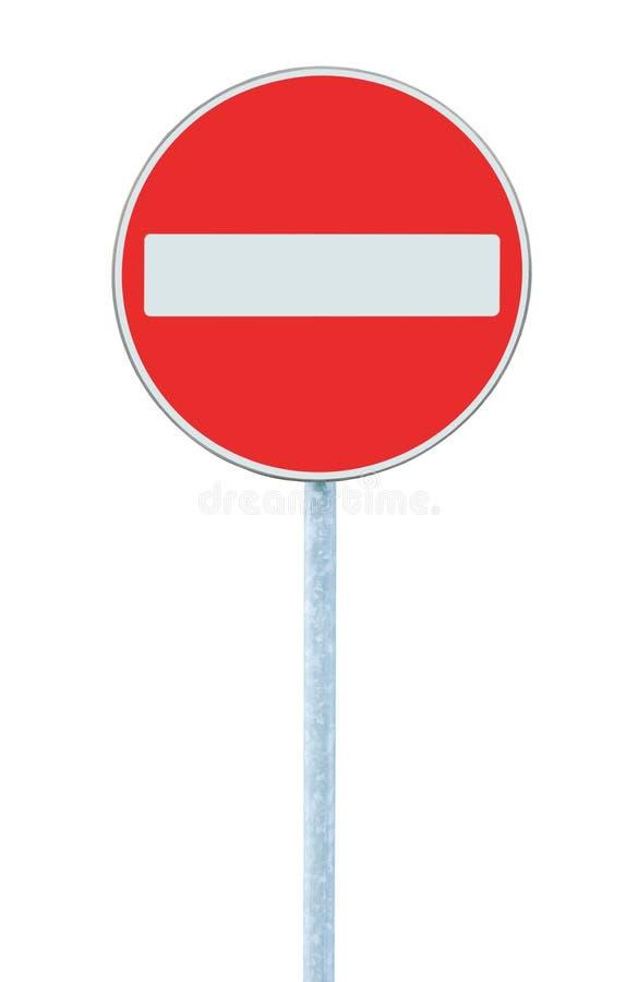 вход не изолировал никакое предупреждение движения дорожного знака полюса стоковое фото