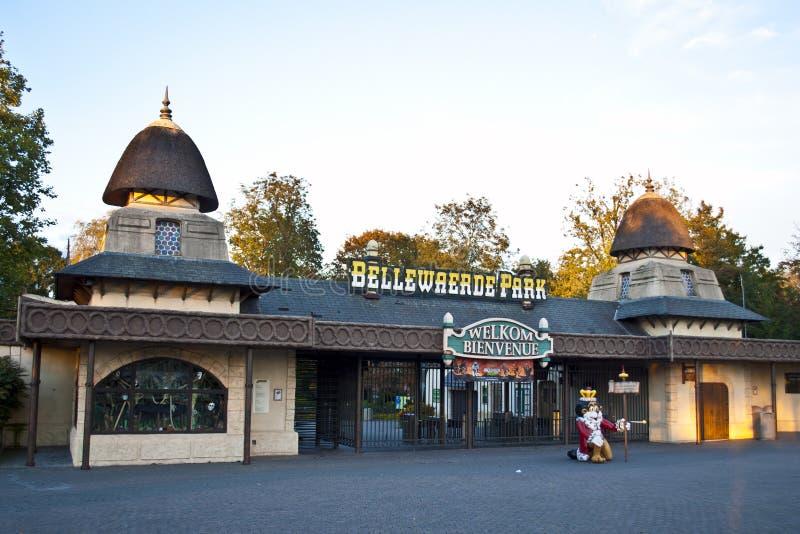 Вход парка Bellewaerde стоковая фотография rf