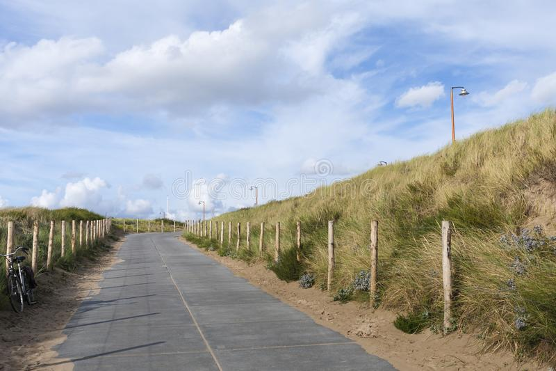 Вход пляжа стоковое изображение rf