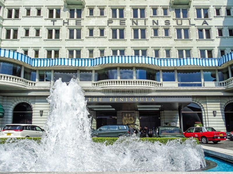 """Вход традиционного роскошного отеля """"полуостров """"в Гонконге стоковые изображения rf"""