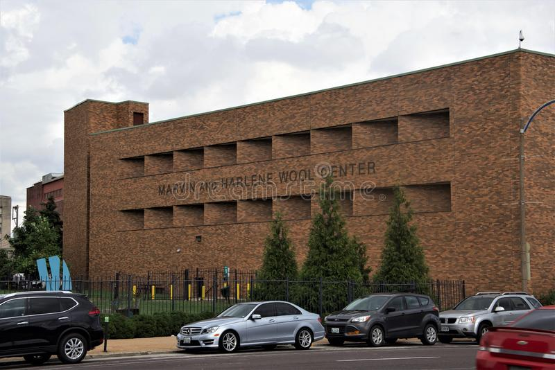 Вход университета Сент-Луис центра Марвина и шерстей Harlene, Сент-Луис Миссури стоковое изображение