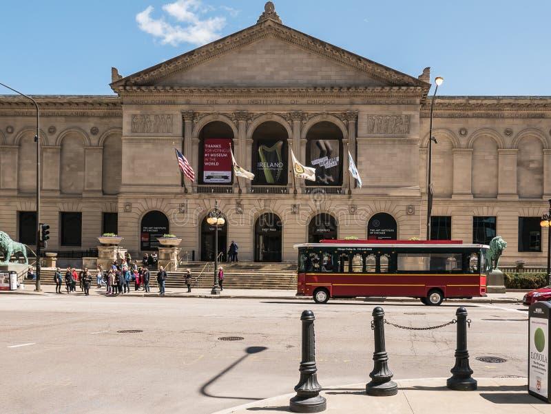 Вход апрель 2015 института искусства Чикаго стоковое изображение