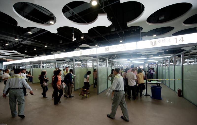 Вход безопасностью экспо мира, экспо Шанхай 2010 Китай стоковые изображения