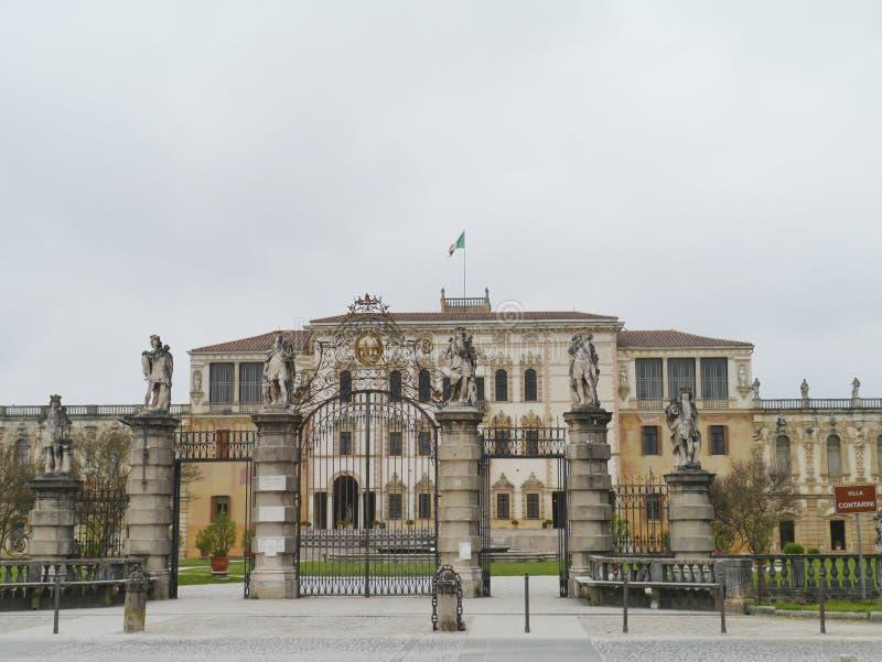 Вход виллы Contarini в sul Brenta Piazzola стоковое фото rf