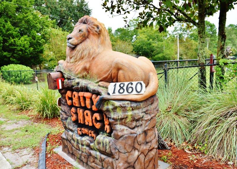 Вход заповедника ранчо лачуги Флориды catty стоковая фотография rf