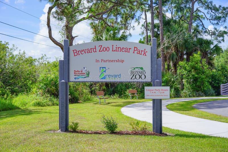 Вход зоопарка Brevard стоковые фото