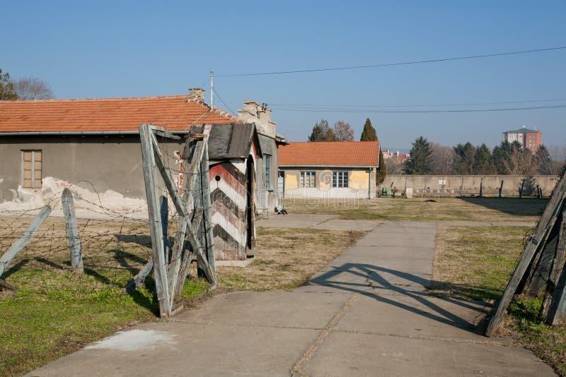 Вход к концентрационному лагерю стоковая фотография