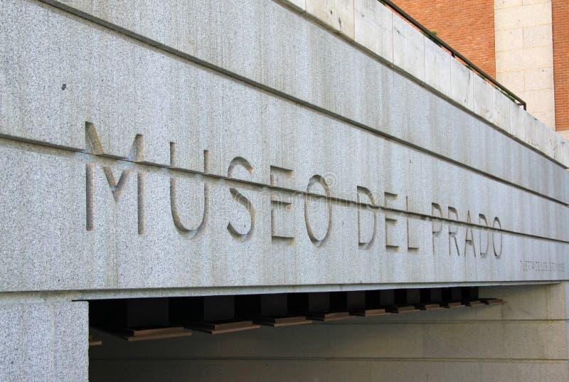 Вход к национальному музею Prado в Мадриде, Испании стоковое изображение