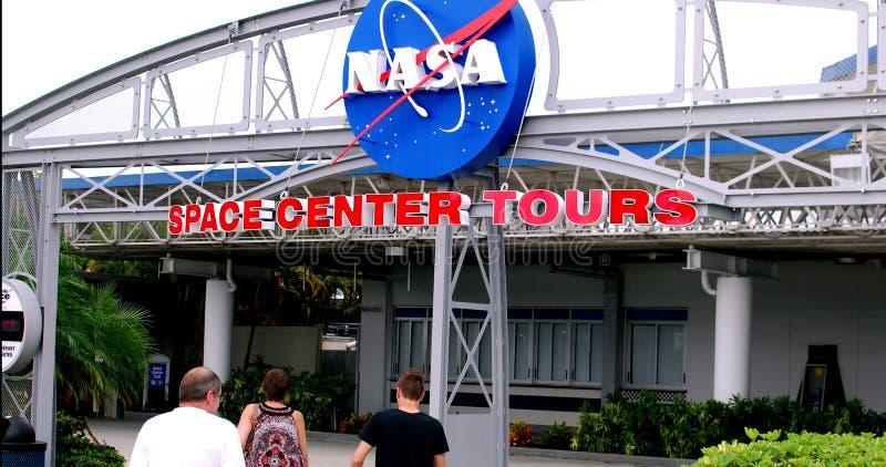 Вход к путешествиям космического центра NASA стоковые фото