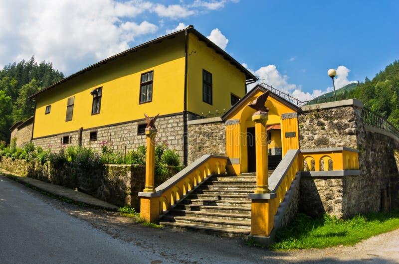 Вход к  RaÄ тринадцатого века монастырь стоковая фотография rf