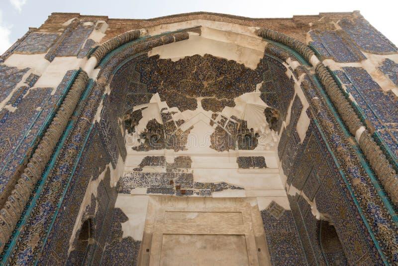 Вход, мечеть Kabud стоковое изображение rf