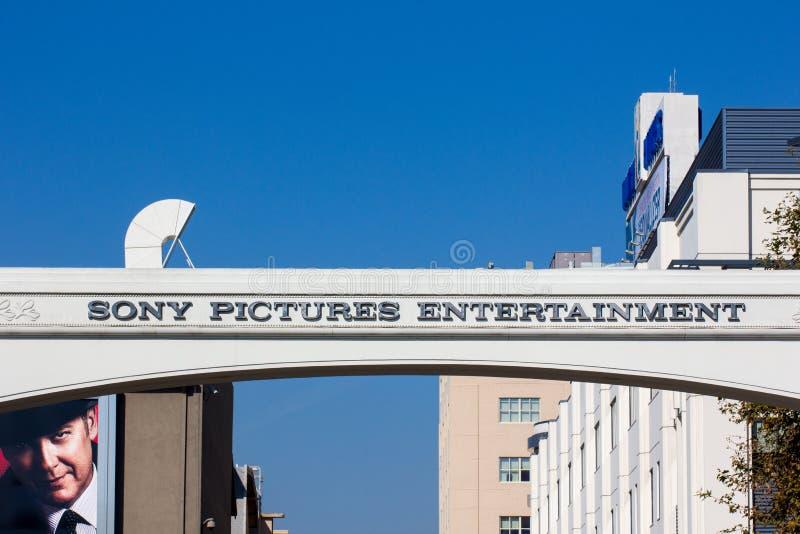 Вход студий Sony Pictures стоковое изображение