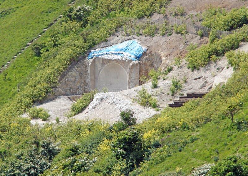 Вход тоннеля военного времени стоковое фото rf