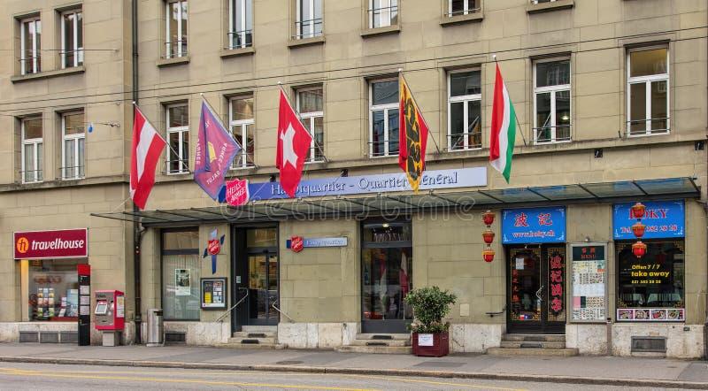 Вход управления Швейцарии армии спасения стоковая фотография