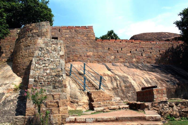 Вход форта с карамболем стоковое фото rf