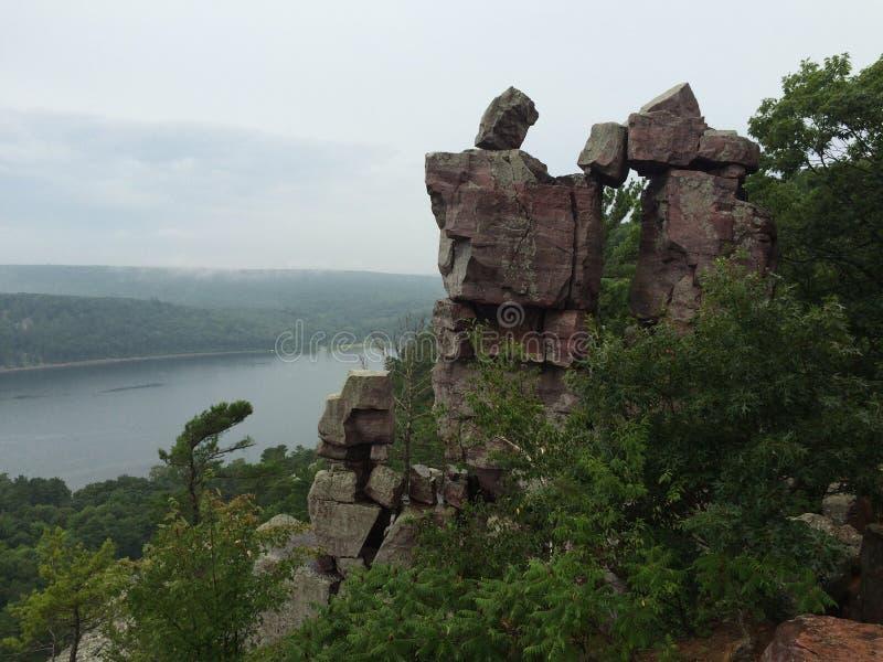 Вход дьяволов на парке штата озера дьявол стоковые изображения