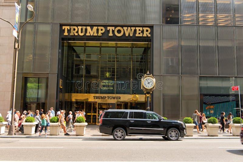 Вход для того чтобы Trump башня в Манхаттане, NYC стоковое изображение rf