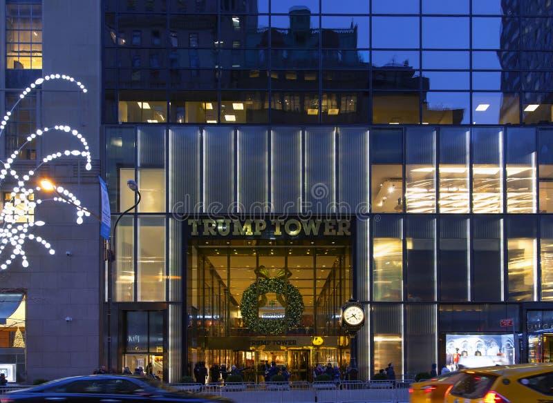 Вход для того чтобы Trump башня в NYC стоковое изображение