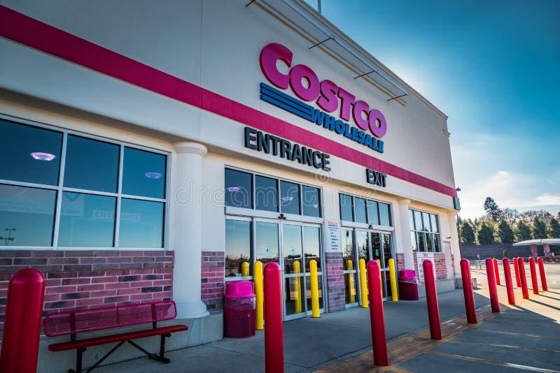 Вход ClubStore оптовой продажи Costco стоковое фото rf
