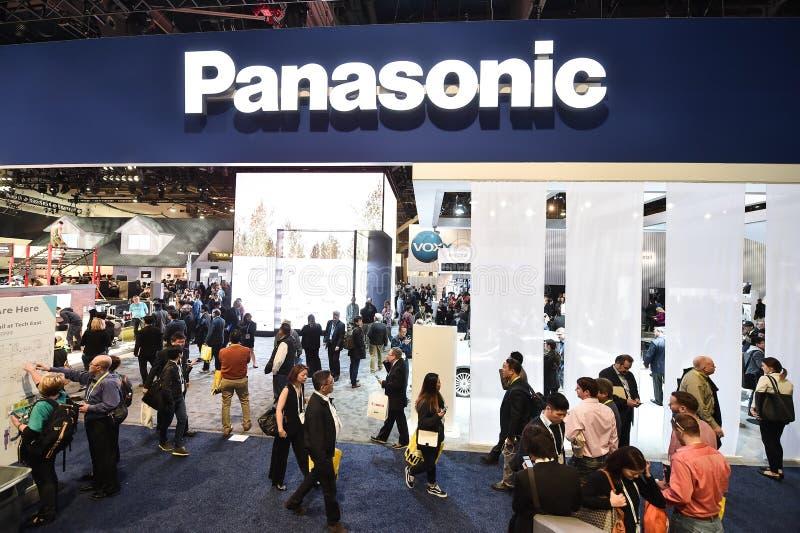 Вход Panasonic на CES 2016 стоковые изображения rf