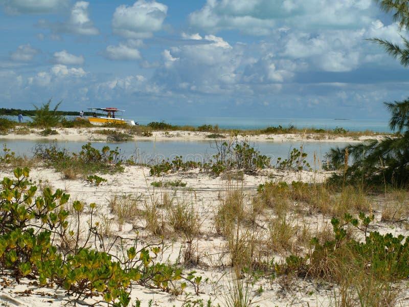 Вход Sandy океаном стоковые фото