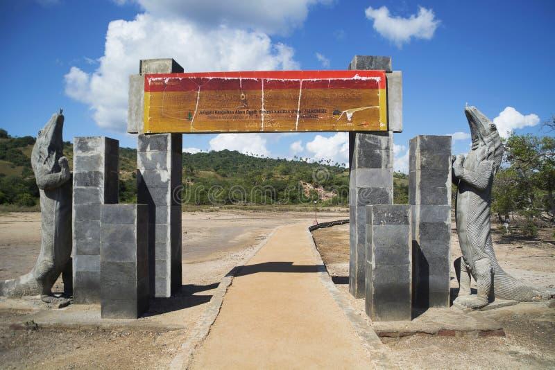 Въездные ворота острова Rinca Индонезии стоковое фото rf