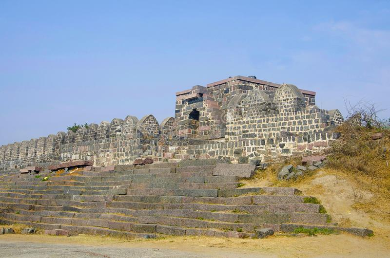 Въездные ворота, форт Warangal, Warangal, Telangana Индия стоковое изображение