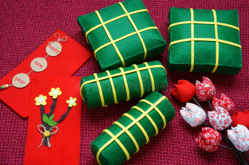 Въетнамская еда, banh chung, tet banh, Вьетнам Tet стоковые изображения