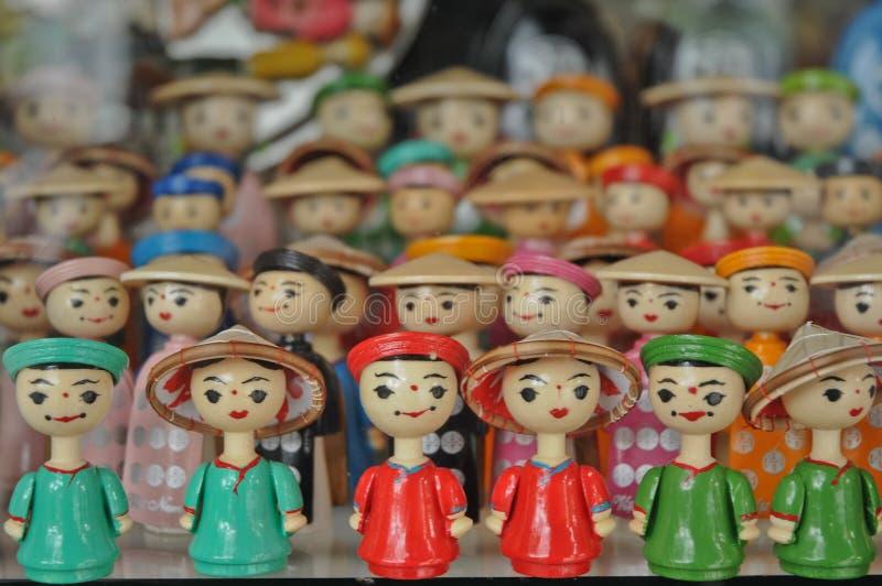 Въетнамские деревянные традиционные куклы в Ханое стоковая фотография