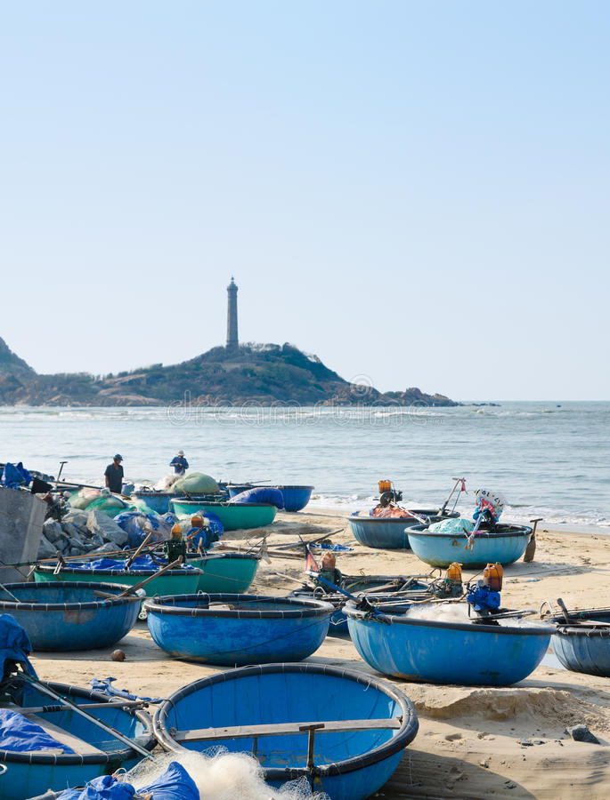 Въетнамские рыбацкие лодки стоковые фотографии rf