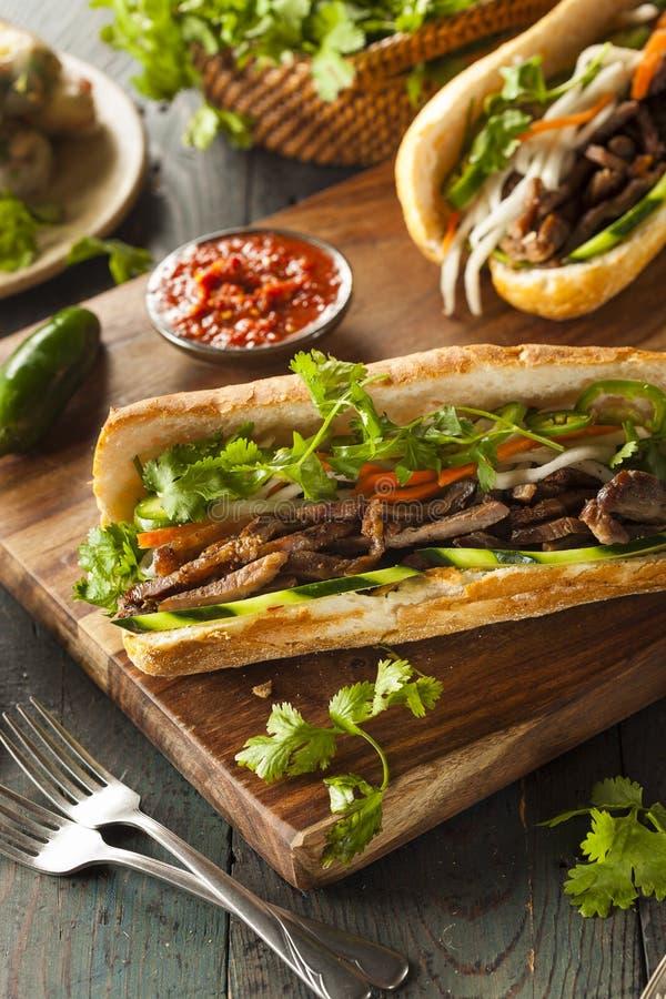 Въетнамский сандвич Banh Mi свинины стоковое изображение rf
