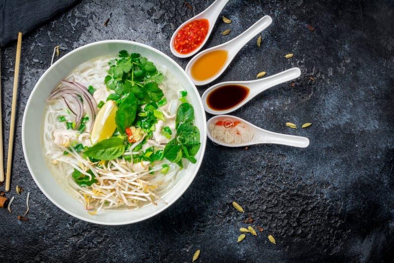 Въетнамский суп Pho GA стоковая фотография rf