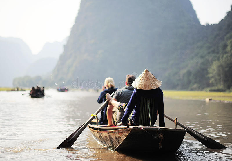 Въетнамский rowing стоковая фотография
