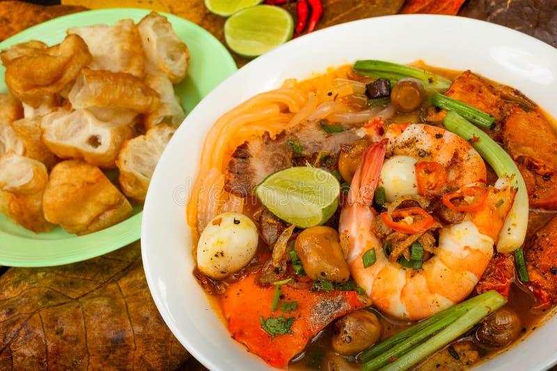 Въетнамское pho супа с креветками стоковые фото