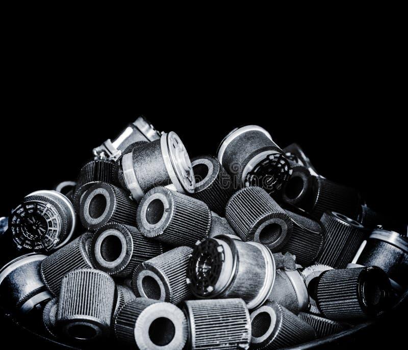 Выберите воздушный фильтр фокуса пакостный от автомобиля стоковые фото