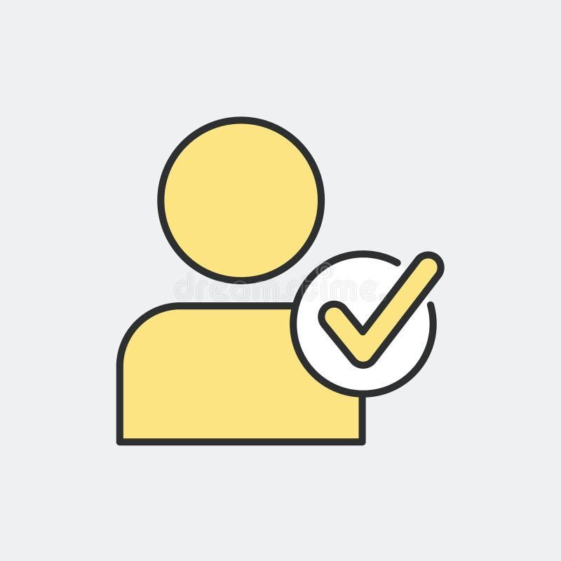 Выберите концепцию символа персоны бесплатная иллюстрация
