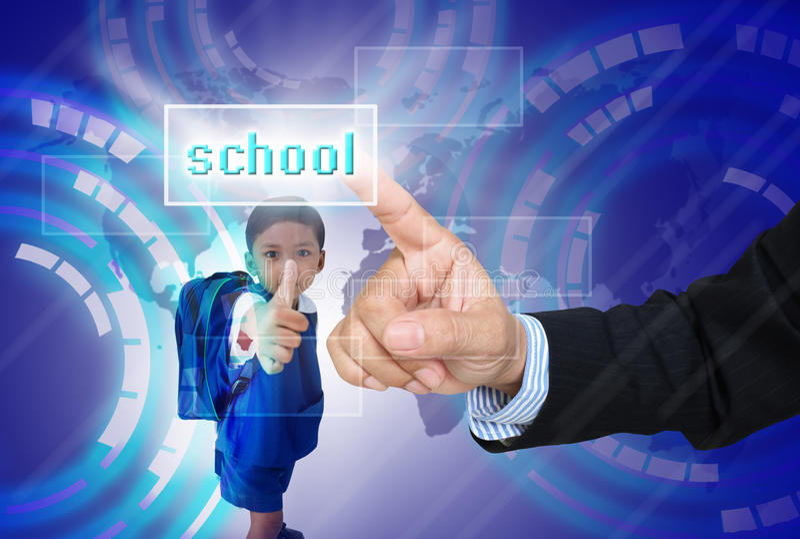 Выберите школу для ребенка стоковые изображения rf