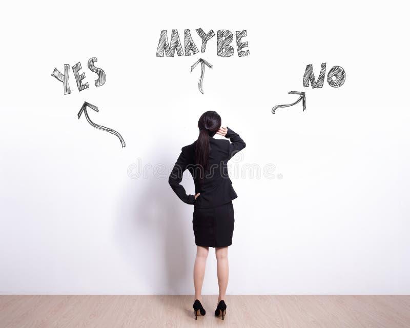Выбор бизнес-леди стоковое изображение