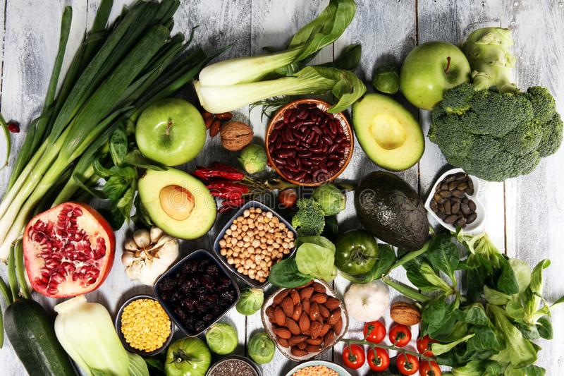 Выбор еды здоровой еды чистый E стоковое изображение