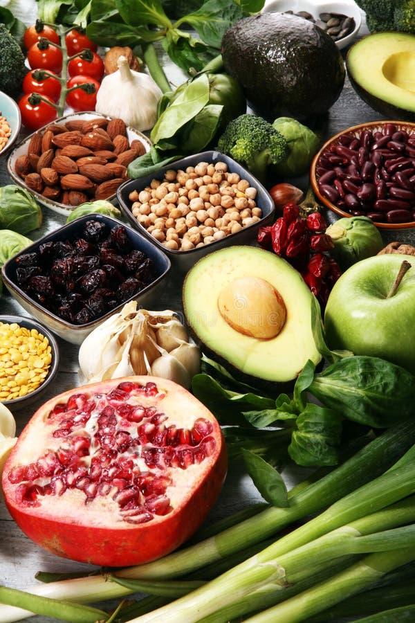 Выбор еды здоровой еды чистый E стоковые изображения