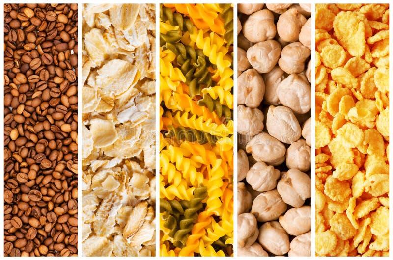 выбор еды различный стоковое изображение