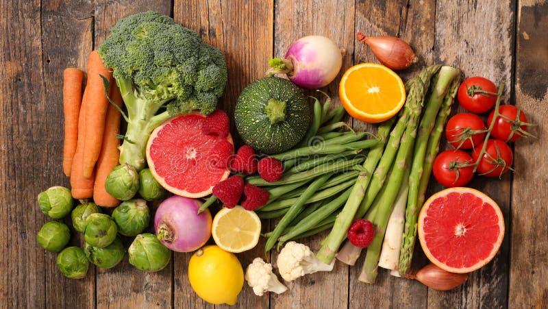 Выбор еды, zero калория стоковая фотография