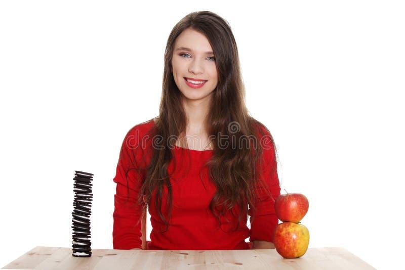выбор ест девушку hard знает не к чему стоковые фото
