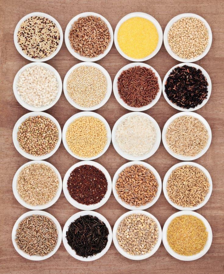 Выбор еды зерна стоковое фото rf