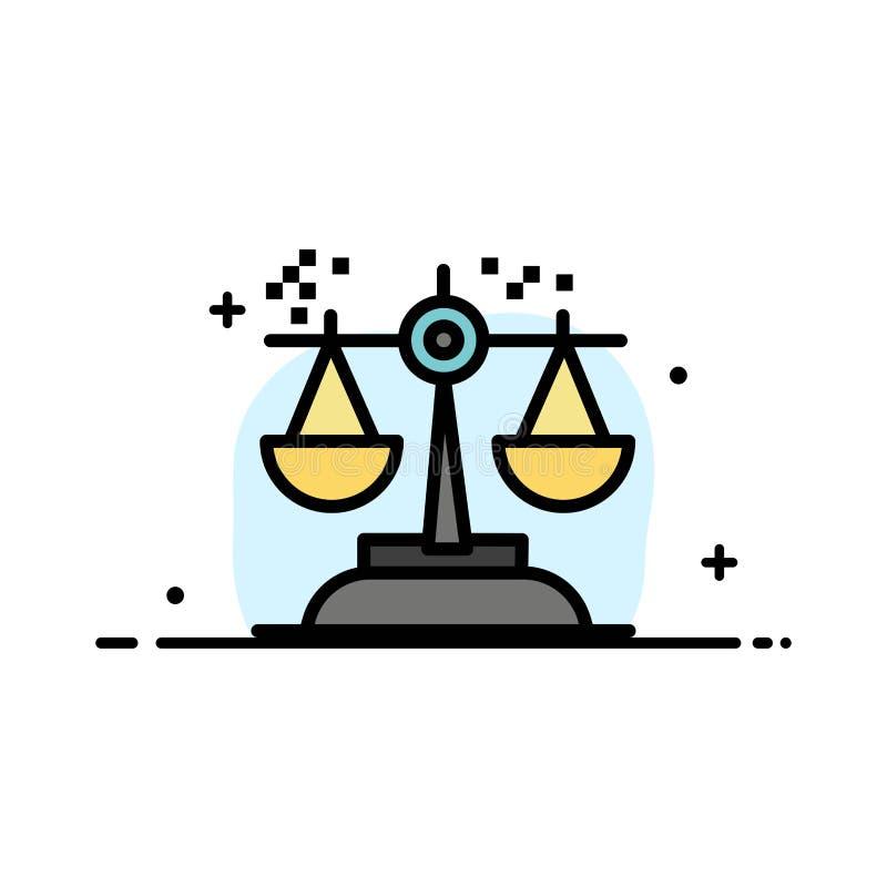 Выбор, заключение, суд, суждение, линия дела закона плоская заполнил шаблон знамени вектора значка бесплатная иллюстрация