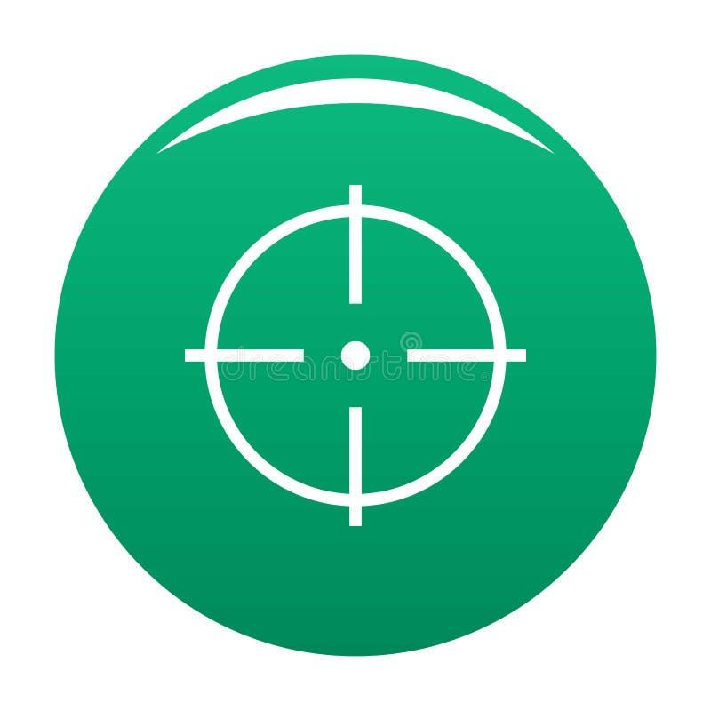 Выбор зеленого цвета вектора значка цели иллюстрация вектора